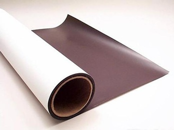 Magnetic sheeting - white from AMF Magnetics.