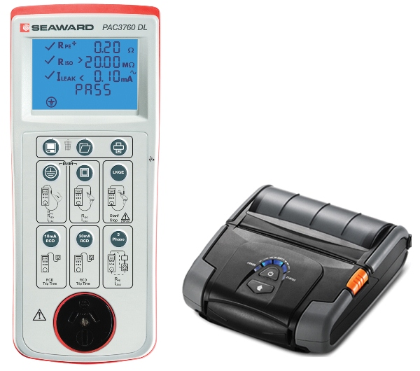 PAC3760 DL Data Logging Appliance Tester And Test Tag Printing Kit