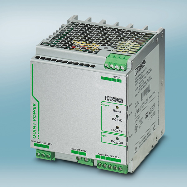 The new Quint Power power supply is specifically designed for connection to frequency inverters.