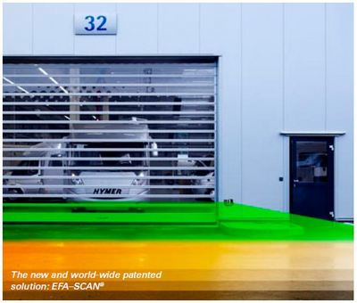 Efascan for high speed doors