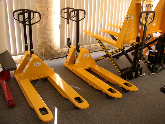 Pallet hand trucks are indispensable equipment for a materials handling company.