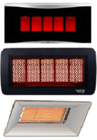 Gas ceramic heater examples