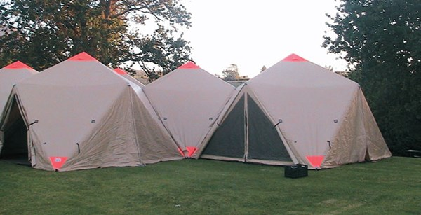 Inflatable Disaster Shelters : Cutting edge air beam technology for portable inflatable