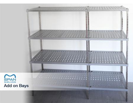 Sub frame with food grade polypropylene to produce a strong shelf
