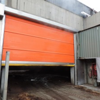 Corrosion Resistant Roller Doors Installed in Waste Processing Plant