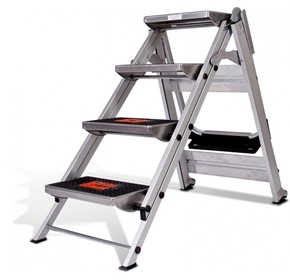 Safety Step Stair Ladder 4 Steps No Rail 0.92m | LITTLE GIANT