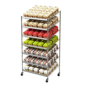 Bakery Utility Trolley | Angled Euro