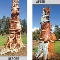 Protecting Wood Carvings with Eracoat 2K Rapid Coating