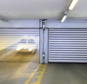 High speed carpark doors