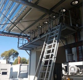 Veqtor custom designed awning and platform