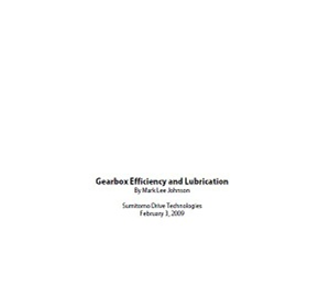 Gearbox lubrication and efficiency