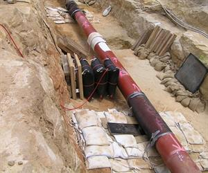 Pronal pipeline in trench.