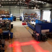 Overhead Crane and Heavy Machinery Warning Boundary LED Light System