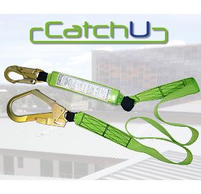 CatchU Fall Arrest Webbing Lanyard with Scaffold Hook