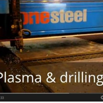 "Thick plate drilling ""Near Dry"""