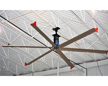 Warehouse installation of a SkyBlade 6-blade HVLS Fan
