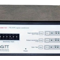 Microprocessor-controlled, three-channel bench top signal conditioner