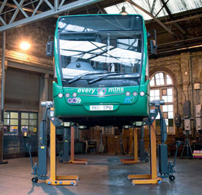 Battery-operated column lifts offer improved workplace safety
