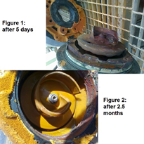 Uranium processing facility pump benefits from elastomeric coating