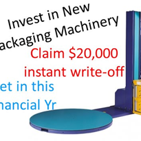 Buy a packaging machine, get a tax deduction now & save money too