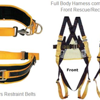 B-Safe Miners Restraint Belt & Height Safety Full Body Harness