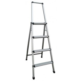 Aluminium Step Ladder with Handrail 4 Steps 1.1m | INDALEX