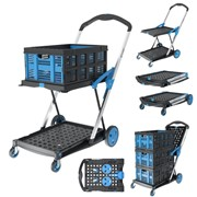 NEW Extra Large Cart Folding Trolley with One Basket