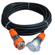 "4 Pin 20 Amp ""Construction"" 3 Phase Extension Leads - Electrical Cable"