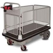 Battery Powered 450kg Platform Trolley with Removable Side Cages