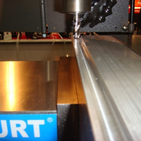 Milling slots in annealed stainless steel Near Dry