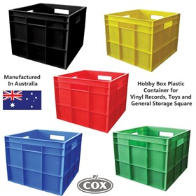 Plastic Storage Container for Vinyl Records, Toys and General Storage