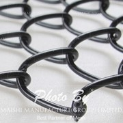 Black Vinyl Coated Galvanized Chain Link Fabric