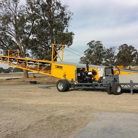 Bunker Stacker & Drive-Over Hopper For The Grain Storage Industry