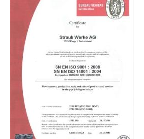 Straub meets ISO 14001 requirements