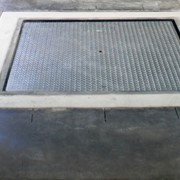 Galvanised pallet scales for Cheetham Salt