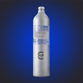 112DA - 112 Litre Calibration Gas Cylinder for Combustion Efficiency