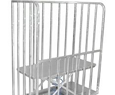Bulk delivery trolley with a back-saving rising base.