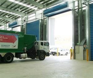 High speed door waste industry