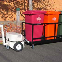 Moving multiple waste bins