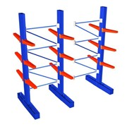 Powder Coated Cantilever Racking | 4267mm 2 Bays Double Base System