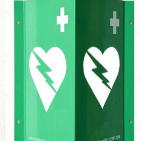 AED Wall Sign 3D for Defibrillators