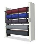 Carpet and Roll Carousel Storage Racks