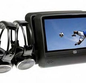 Backseat Multimedia Player with Individual Wireless Headphones Gator