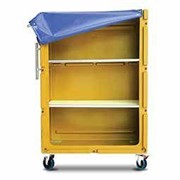 Poly laundry linen tallboy trolley with shelves and heavy duty castors