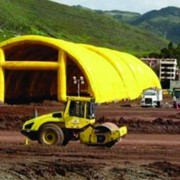 Inflatable Concrete Casting Shelter