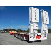 Tri- Drop Deck Flat Top Extendable Semi Trailer