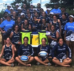Pryme supports Auckland U18 & 16 Girls at ouch Footy Nationals in 2019