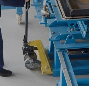 Pallet truck castors need to be robust, durable and wear-resistant.
