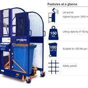 Electric Bin Lifters | Electrodrive Simplicity Plus