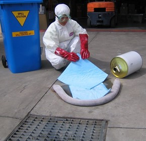 What are the three main types of spill kits?